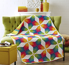Rainbow Connection Pattern Throws   American Patchwork & Quilting