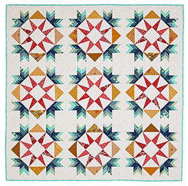 Star Bright, Star White Pattern Throws   American Patchwork & Quilting