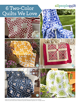 6 Two-Color Quilts We Love Pattern