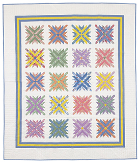 Mixed Bouquet Pattern Throws American Patchwork & Quilting Spring Quilts