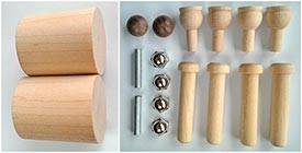 Construction-Grade Rollers Project Kit PLUS Turned Drums