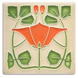 Orange Motawi Tile Project Kit - RS-01163B