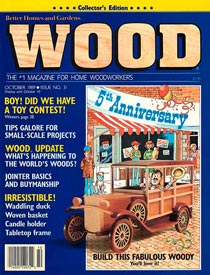 WOOD Issue 31, October 1989, WOOD Magazine