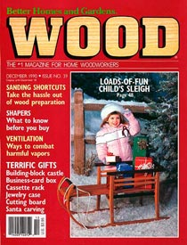 WOOD Issue 39, December 1990, WOOD Magazine