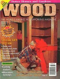WOOD Issue 74, November 1994, WOOD Magazine