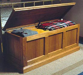 Heirloom Oak and Cedar Chest : Large-format Paper Woodworking Plan
