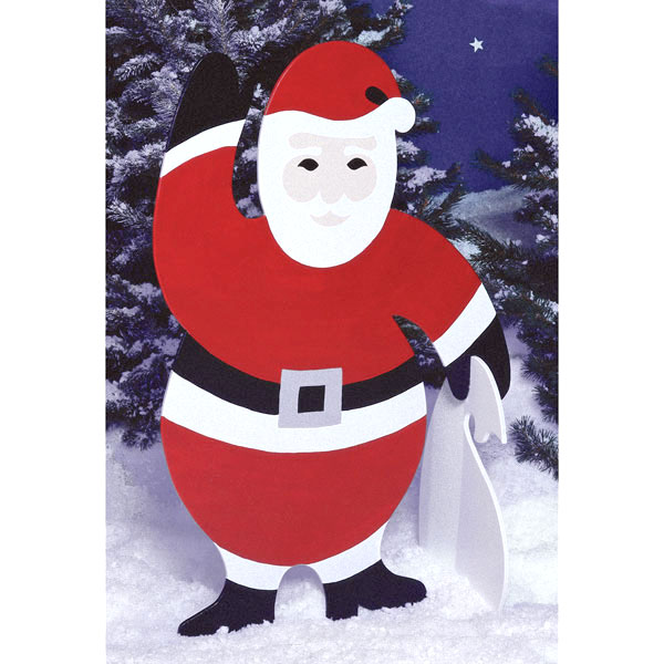 4-foot Santa : Large-format Paper Woodworking PlanOutdoor Seasonal Yard Figures Holidays
