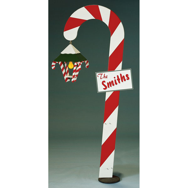 Candy Cane : Large-format Paper Woodworking PlanOutdoor Seasonal Yard Figures Holidays