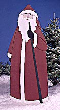 Father Christmas : Large-format Paper Woodworking Plan