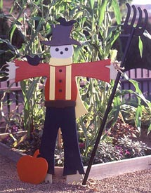 Easy Going Scarecrow : Large-format Paper Woodworking Plan