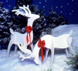 Graceful Reindeer : Large-format Paper Woodworking PlanOutdoor Seasonal Yard Figures Holidays