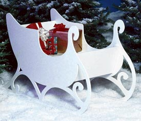Sleigh : Large-format Paper Woodworking PlanOutdoor Seasonal Yard Figures Holidays