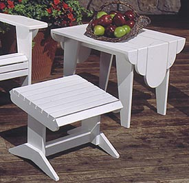 White Adirondack Footstool and Side Table : Large-format Paper Woodworking Plan