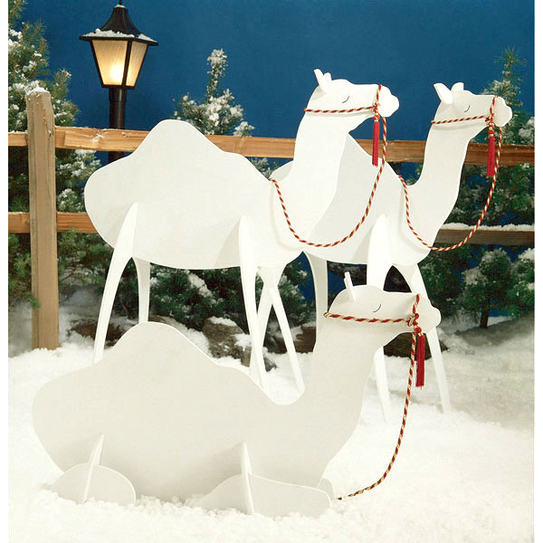 Camels : Large-format Paper Woodworking PlanOutdoor Seasonal Yard Figures Holidays