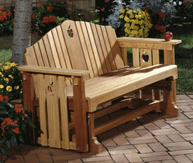 Apple Patio Porch Glider : Large-format Paper Woodworking Plan