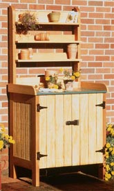 Potting Table and Compost Bin : Large-format Paper Woodworking Plan
