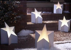 All-Star Luminaria : Large-format Paper Woodworking PlanOutdoor Outdoor Accessories Holidays