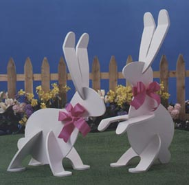Garden Wabbits : Large-format Paper Woodworking Plan