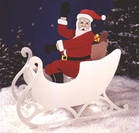 Sittin' Pretty Santa : Large-format Paper Woodworking Plan