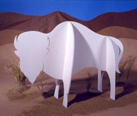 Majestic Buffalo : Large-format Paper Woodworking PlanOutdoor Seasonal Yard Figures