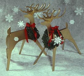 Sleek & Stylish Reindeer : Large-format Paper Woodworking Plan