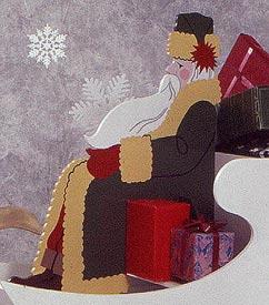 High-Styled Saint Nick : Large-format Paper Woodworking PlanOutdoor Seasonal Yard Figures Holidays