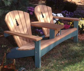 Double Settee with Tree Detail : Large-format Paper Woodworking Plan