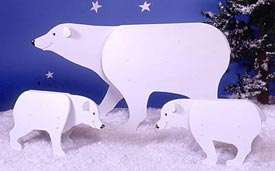 Bears : Large-format Paper Woodworking PlanOutdoor Seasonal Yard Figures Holidays