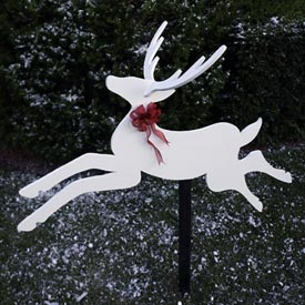 Dashing Deer : Large-format Paper Woodworking PlanOutdoor Seasonal Yard Figures Holidays