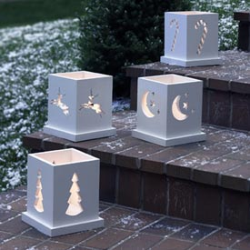 Holiday Luminarias : Large-format Paper Woodworking Plan