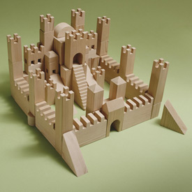 Building Block Castle : Large-format Paper Woodworking Plan