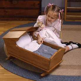Cherry Doll's Cradle : Large-format Paper Woodworking Plan