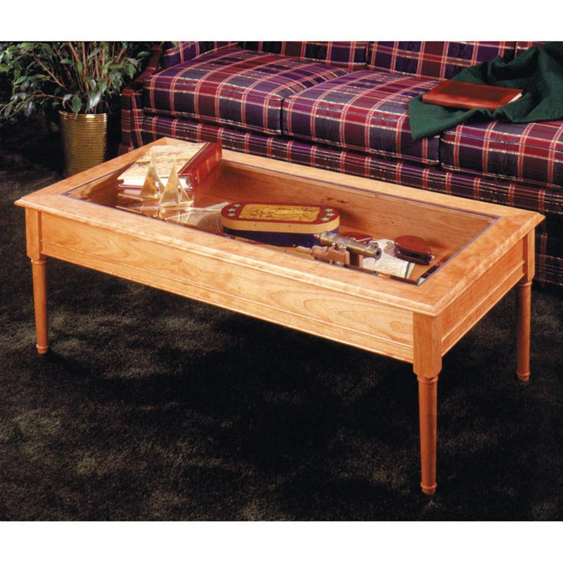 glass topped coffee table woodworking plan from wood magazine