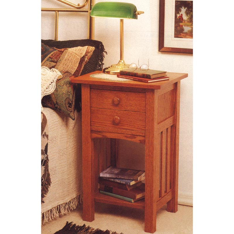 Arts and crafts end table nightstand woodworking plan from for Nightstand plans
