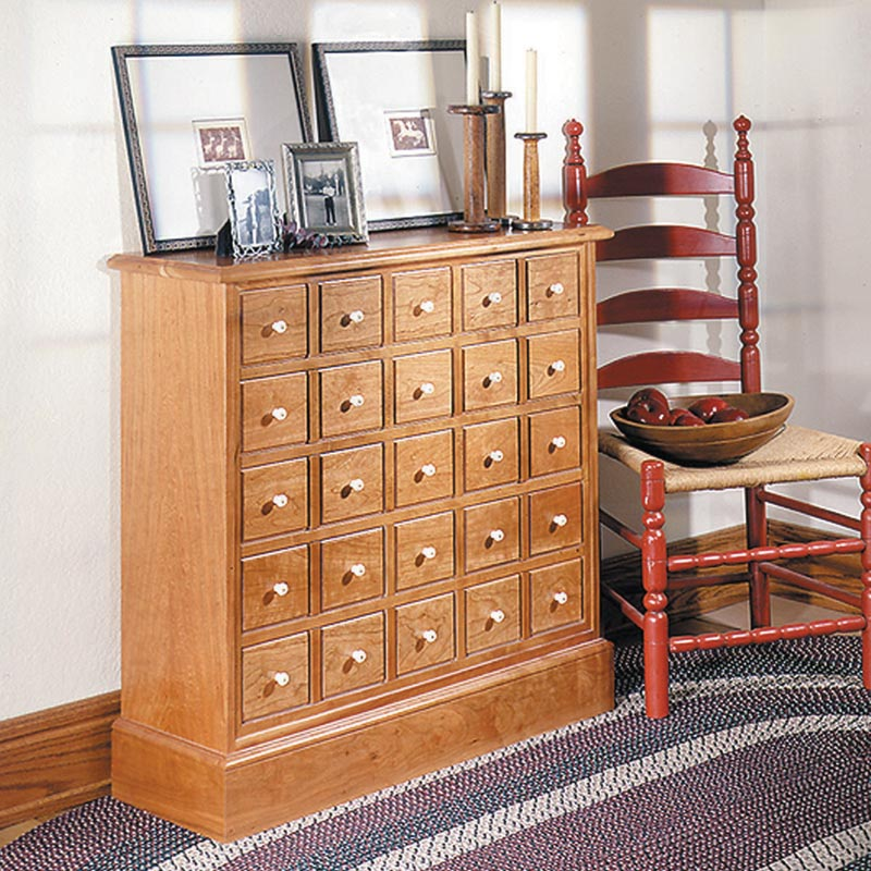 Apothecary's Friend Cabinet Woodworking Plan from WOOD ...