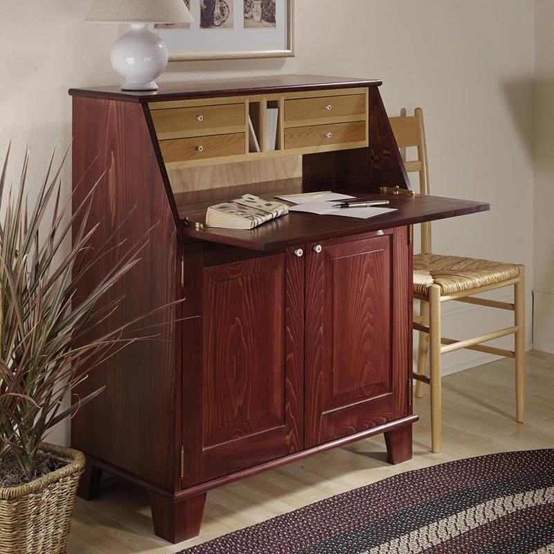 Drop Front Writing Desk Woodworking Plan From Wood Magazine