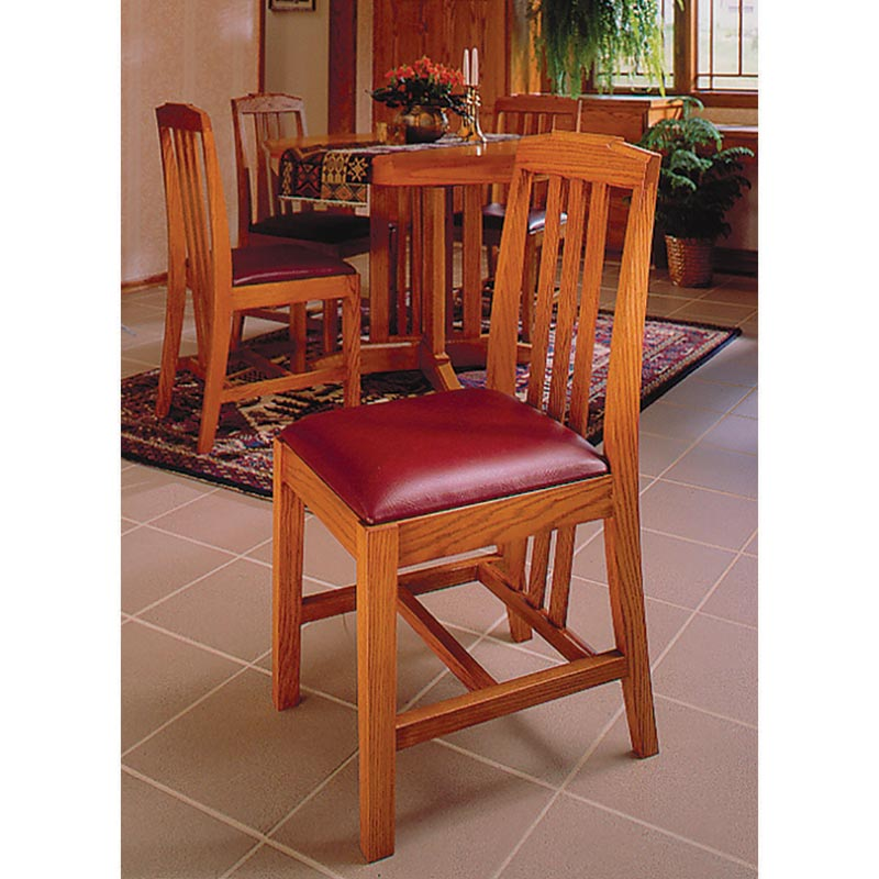 Arts And Crafts Dining Chairs Woodworking Plan From WOOD