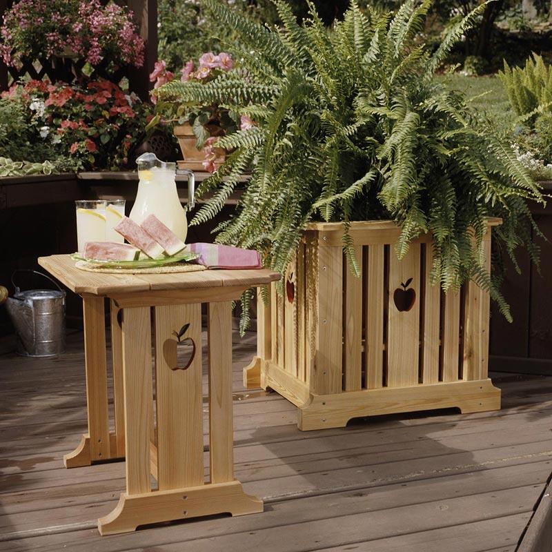 Apple Patio Table & Garden Planter