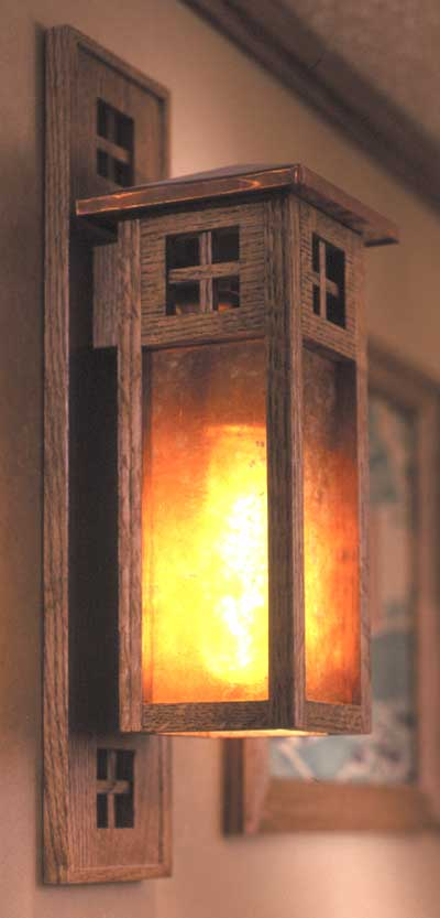 Arts And Crafts Wall Sconce Woodworking Plan From Wood