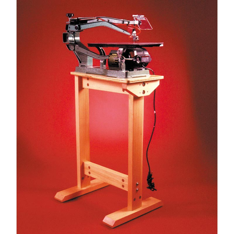 super sturdy scrollsaw stand woodworking plan from wood