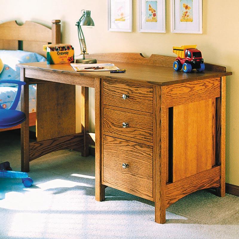 Oak Furniture Projects ~ Kid s oak desk woodworking plan from wood magazine