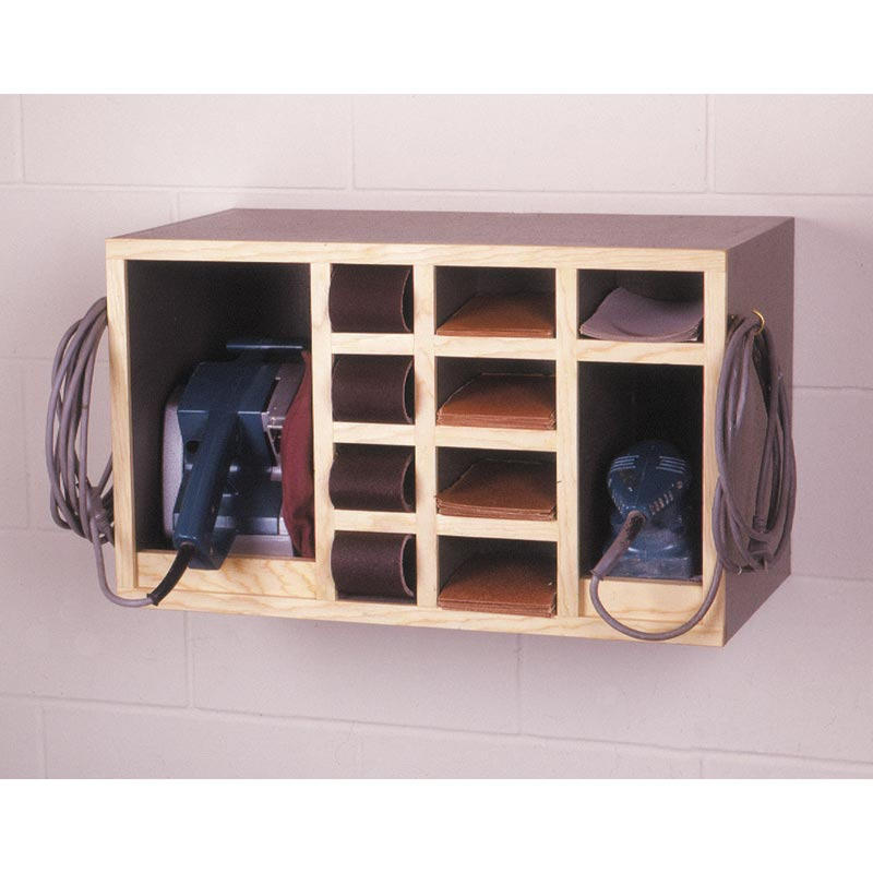 All Wood Storage Cabinet ~ All in one sander cabinet woodworking plan from wood magazine