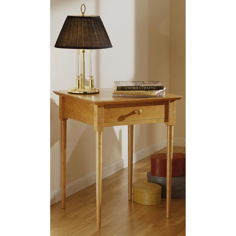 Shaker nightstand woodworking plan from wood magazine for Simple nightstand designs
