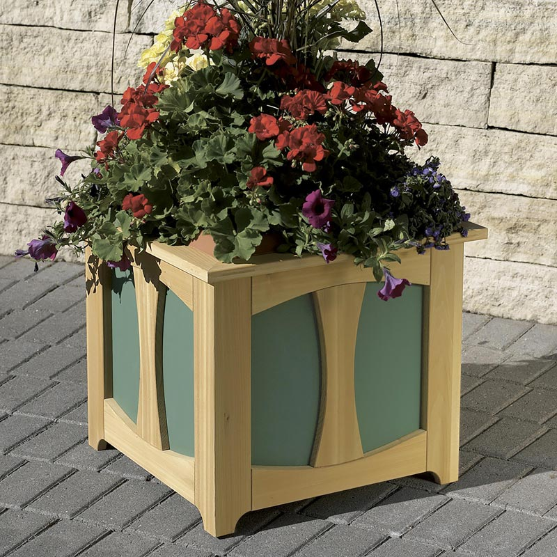 Patio perfect planter box woodworking plan from wood magazine for Garden planter plans