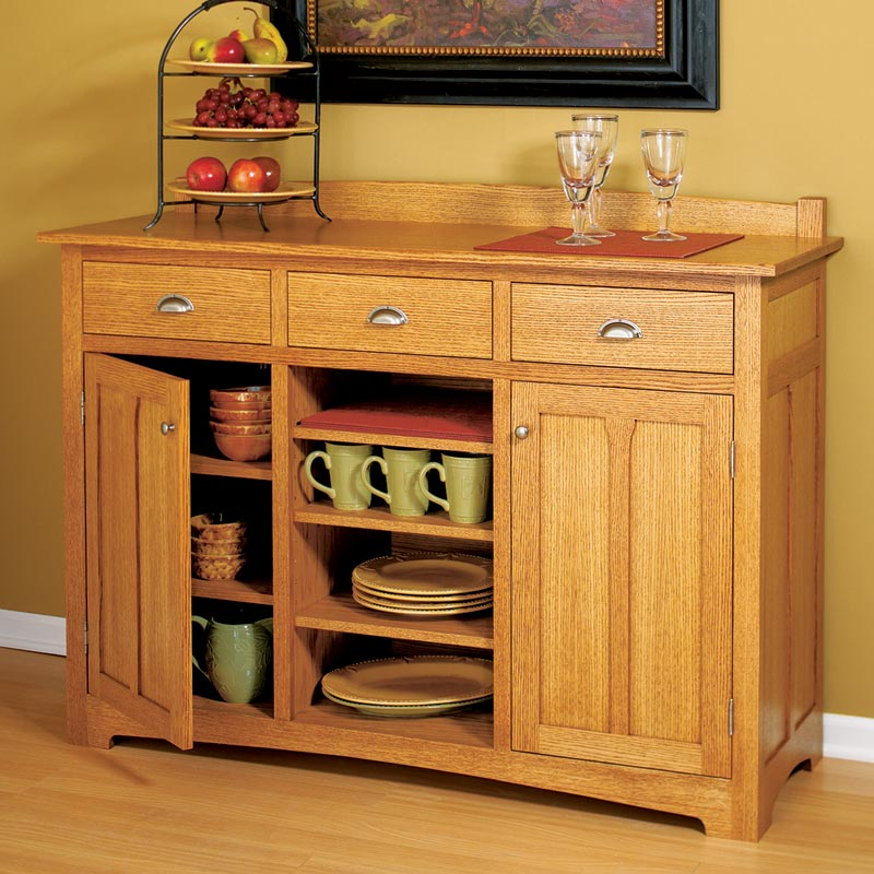 Traditional Sideboard Woodworking Plan From Wood Magazine