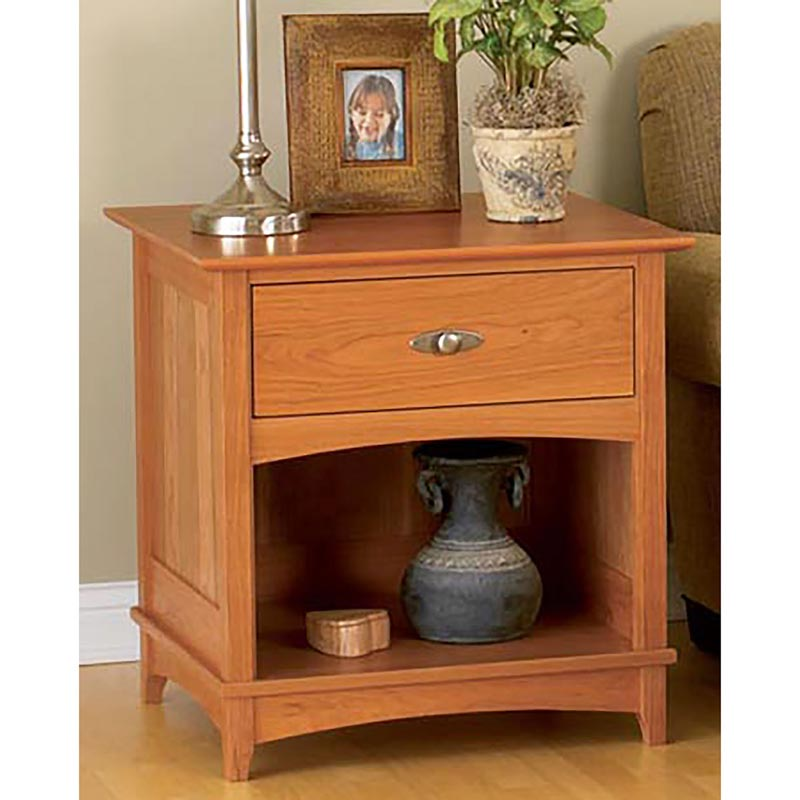 Entertainment center end tables woodworking plan from wood for Nightstand plans