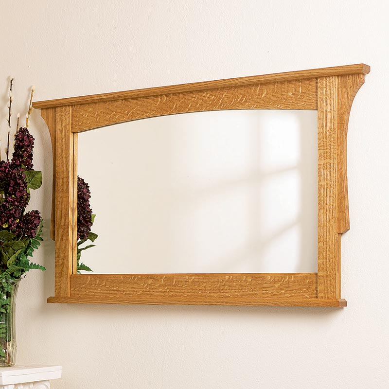 Arts and crafts mirror woodworking plan from wood magazine for Wooden mirror frames for crafts