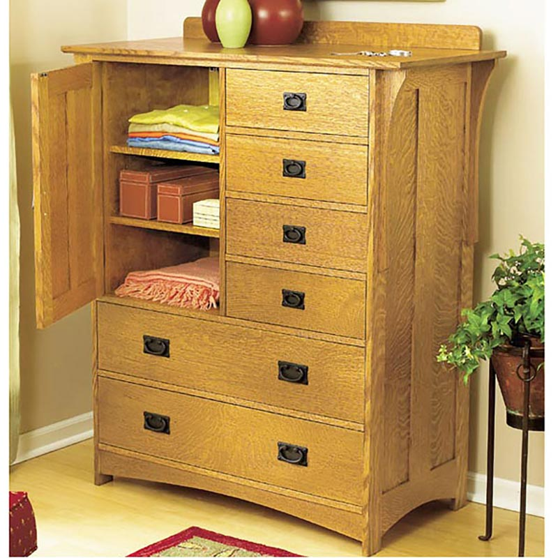 Arts and crafts dresser woodworking plan from wood magazine for Arts and crafts bed plans