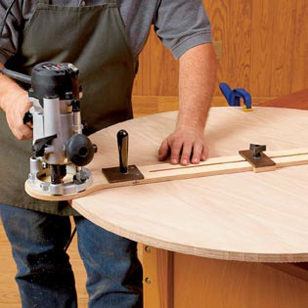 Easy Adjust Router Trammel Woodworking Plan From Wood Magazine