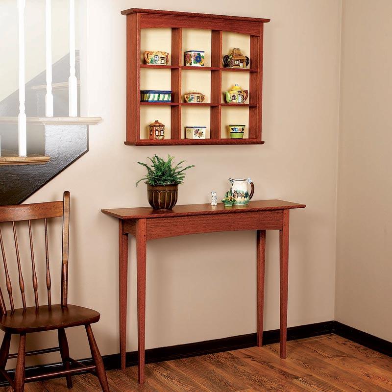 N Curio Shelf And Entry Hall Table